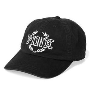 PINK Victoria Secret black logo baseball cap hat